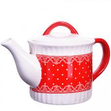 25822 завар/чайник с/кр 730мл красный узор lr(х16)