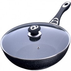 27954 сковорода-вок 30см мрам/крош ап с/кр mb (х8)