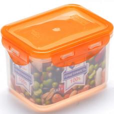02-2-l контейнер пластиковый с цветной крышкой, 630 миллилитров, в упаковке 40 штук
