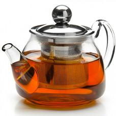 26199 заварочный чайник стекло 200мл+сито mb (х72)