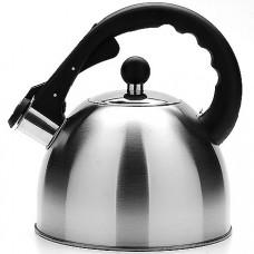 23196 чайник 2,5л мет.со свист.руч/черная мв(х12)
