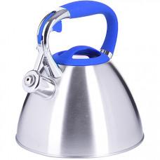 28973 чайник 3 л нерж/сталь со свистком mb (х12)