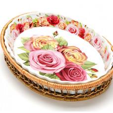 Форма 24799 для запекания плетеная поставка 2,1л 33*5см розы *8