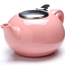 26596-3 заварочный чайник розовый 750мл lr (х24)