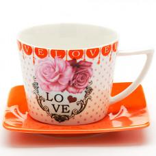 """Чайная пара 24710 230мл 2пр """"i love you"""" lr *24"""