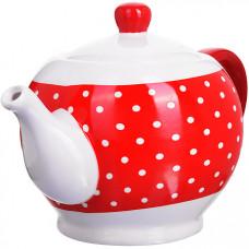 25857 завар/чайник с/кр 950мл красный узор lr(х18)