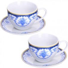 28650 чайная пара 4 предмета 220мл lr (х12)