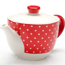 25859 завар/чайник с/кр 900мл красный узор lr(х16)