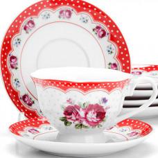 """Набор чайный 25917 12пр 150мл """"цветы"""" lr *6"""