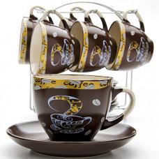 23541 набор чайный 13пр на подставке lr (х6)