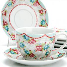 25925 чайный сервиз 12пр 220мл цветы lr (х6)