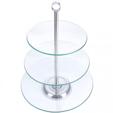 28566 ваза конфетница 3х ярусная стекло lr (х6)