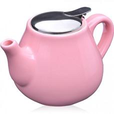 26595-5 заварочный чайник розовый 600мл lr (х24)
