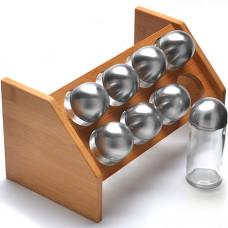 27349 набор для специй с бамбуковой подставкой, 17 предметов, 100 миллилитров, mb, в упаковке 12 штук