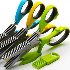 Ножницы 23579 для зелени со щёткой 21см *48