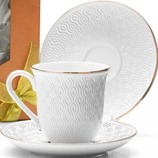 25778 чайный набор 8пр 240мл фарфор lr (х16)(х12)