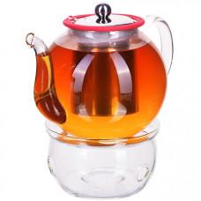 29347 чайник стекло 1200 мл+ подогрев,сито мв (х12)