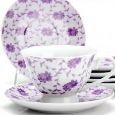 """Набор чайный 25918 12пр 150мл """"цветы"""" lr *6"""