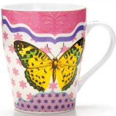 24454-1 кружка 340мл бабочка lr в под/упак (х48)