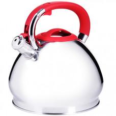 28977 чайник 3,4 л нерж/сталь со свистком mb (х12)