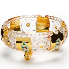 588-052 конфетница 15см..golden/стекло(х24)