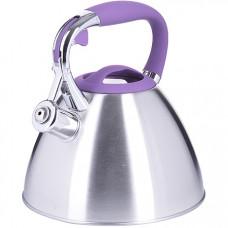 28975 чайник 3 л нерж/сталь со свистком mb (х12)