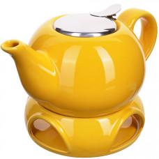28683-1 завароч/чайник желтый 800мл подст/подогр lr (х12)