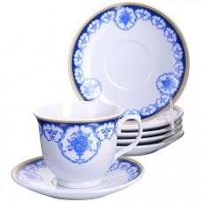 28582 чайный набор 12пр 220мл фарфор под/упlr (х8)