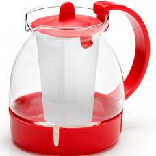 Заварочный чайник 26171 стекло 1,25л сито мв *36
